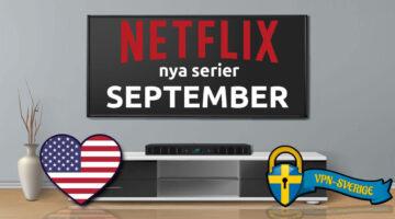 Netflix nya serier September